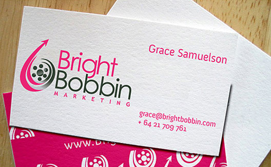 Custom business card design visiting card printing india bright bobbin a creative business card reheart Gallery