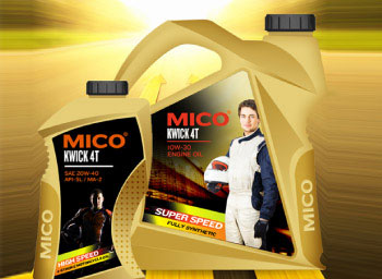 mico-engine-oil-label-design