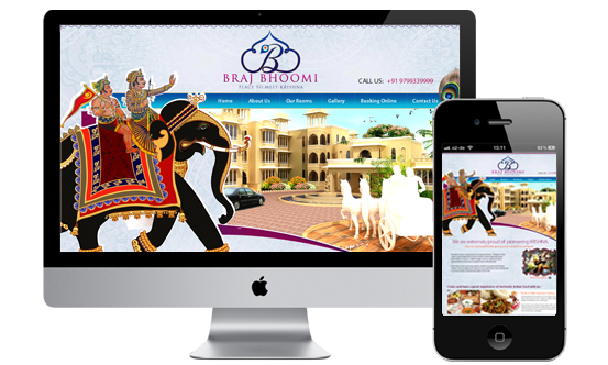 Indian Website design for inspiration- Braj Bhoomi